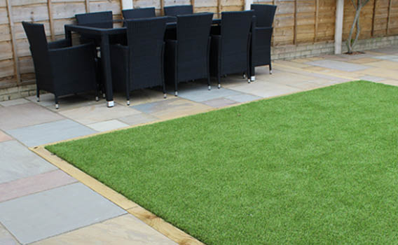 Luxigraze Artificial Grass in garden