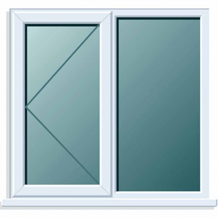 UPVC Window 1190x1040 2P LH Clear Glazed A Rated