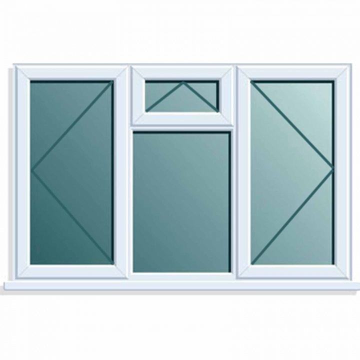 UPVC Window 1770x1040 4PTOV Clear Glazed A Rated