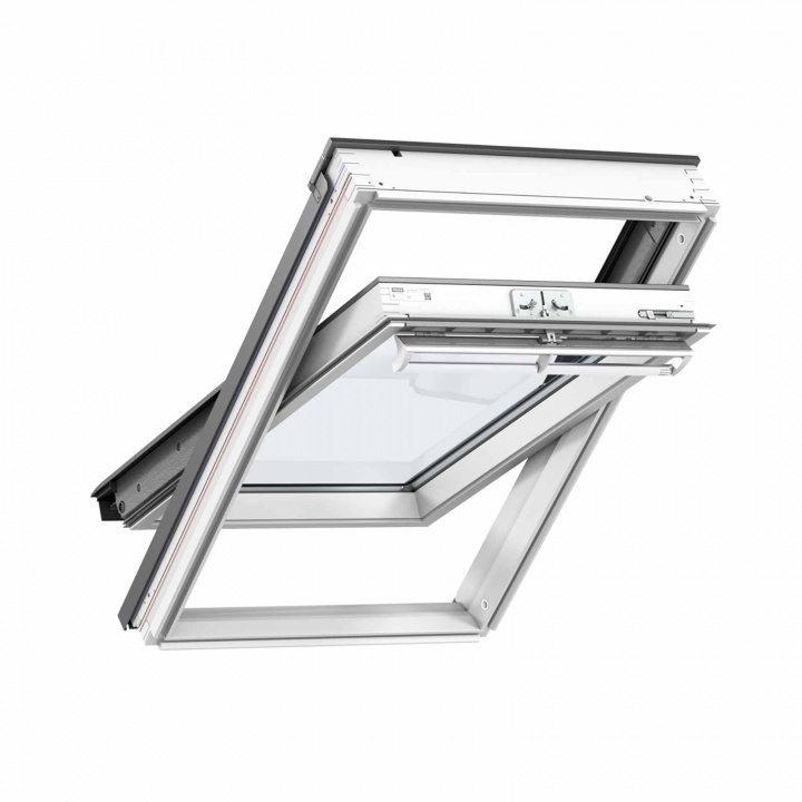 Velux GGL MK04 2070 White Painted Centre Pivot Roof Window 780 x 980mm