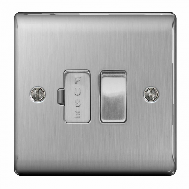BG Nexus 13A Switched Fused Connection Unit Brushed Steel