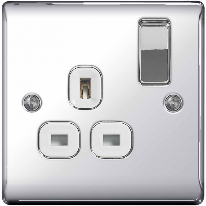 BG Nexus 1 Gang 13A Switched Socket Polished Chrome