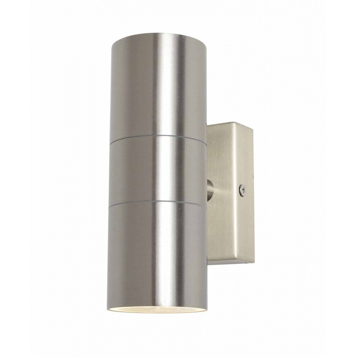 Zinc Leto Up And Down Wall Light Stainless Steel IP44