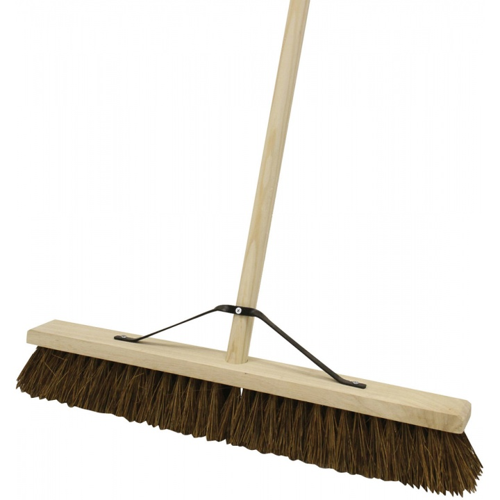 "Stiff Bassine Broom With Handle 600mm (24"")"