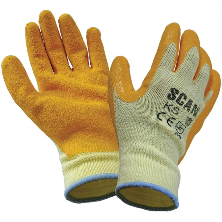Knit Shell Latex Palm Gloves