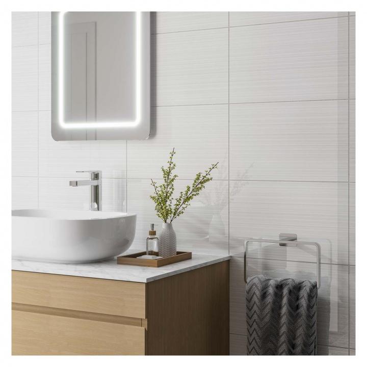 sandrine gloss white ceramic wall tile 250 x 400mm  selco