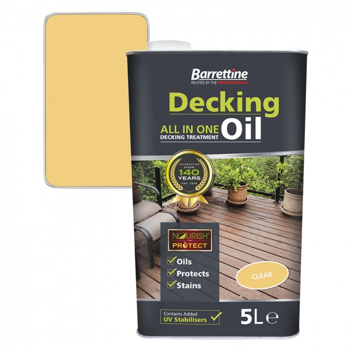 Barrettine All In One Deck Oil Clear 5ltr