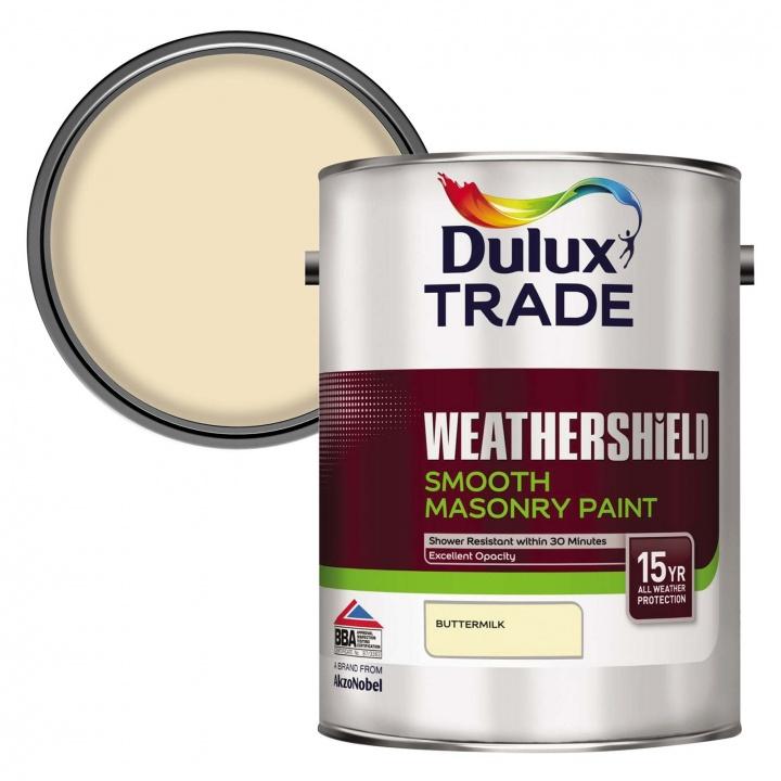 Dulux Trade Weathershield Smooth Masonry Paint Buttermilk ...
