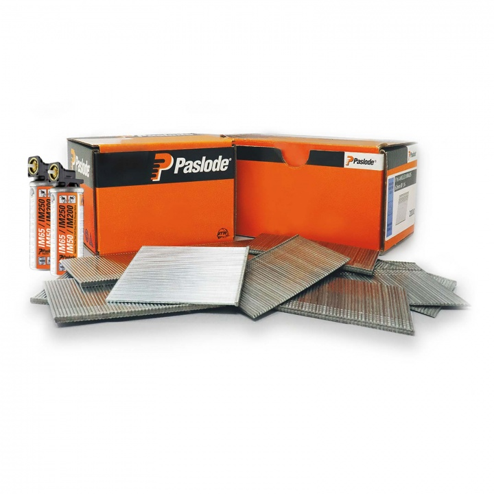 Paslode Angled Brad Fuel Pack F16 x 32mm Galvanised (Pk 2000) With 2 Fuel Cells For IM65A