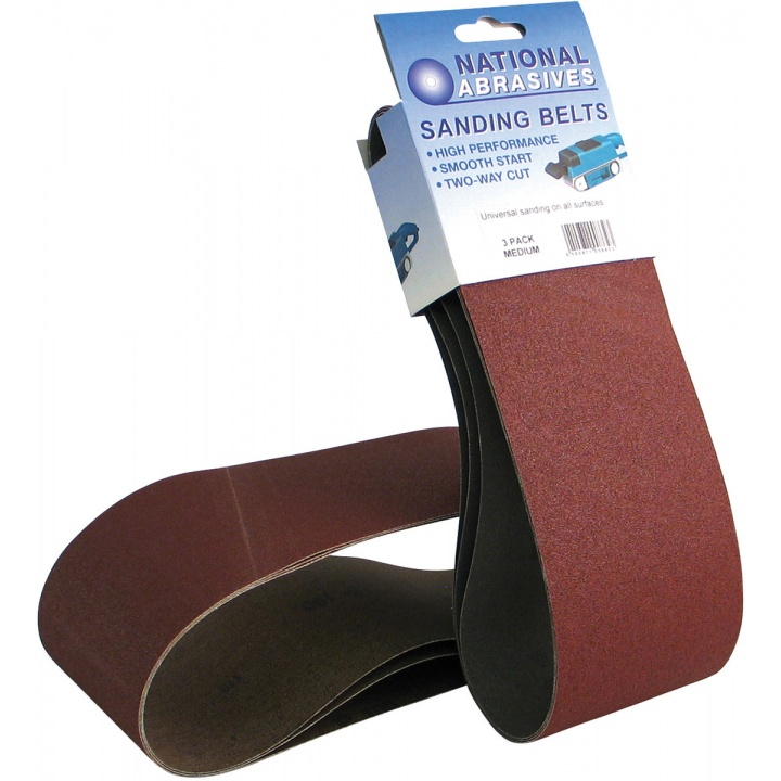 Assorted Grade 100 x 620mm Sanding Belts (Pk 2)