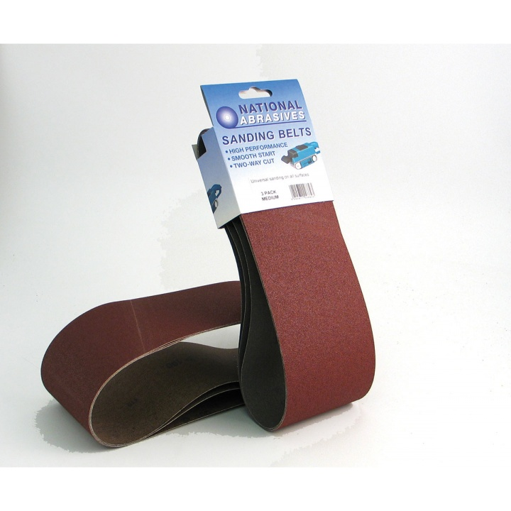 Coarse Grade 100 x 610mm Sanding Belts (Pk 2)