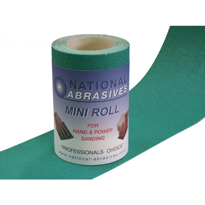 P80 Grade (Medium) Green Aluminium Oxide Abrasive Roll (115mm x 5m)