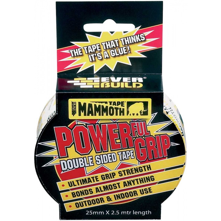 Everbuild Mammoth Powerful Grip Tape 25mm x 2.5m