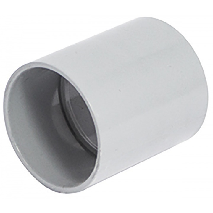 Solvent Weld 40mm Straight Coupling Grey