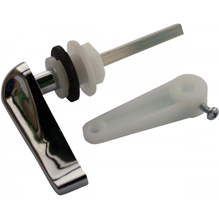 Chrome Plastic Low Level Toilet Cistern Handle