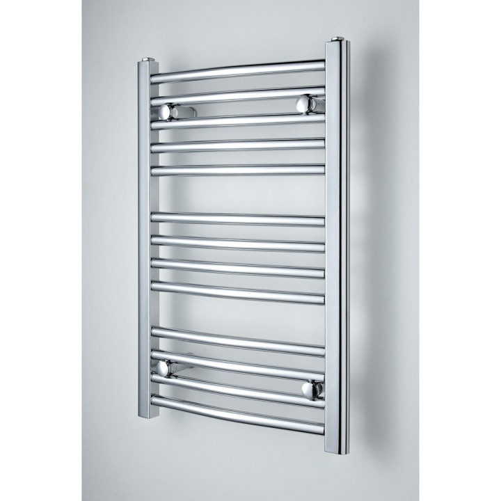 Curved Chrome Heated Towel Rail 700mm x 450mm