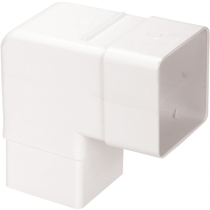 Squareflo 65mm 92.5° Bend White