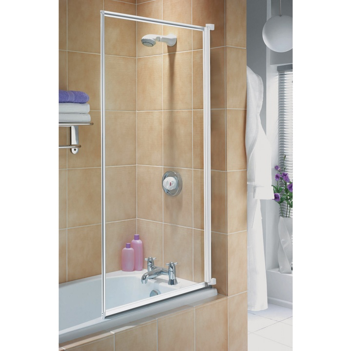 Aqualux AQUA3 White Framed Bath Shower Screen