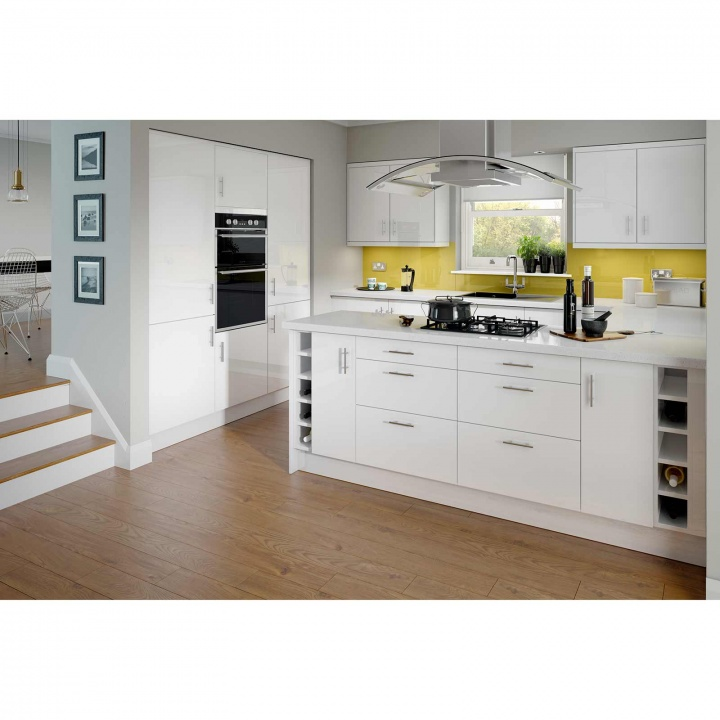 Paris white 600mm three drawer unit