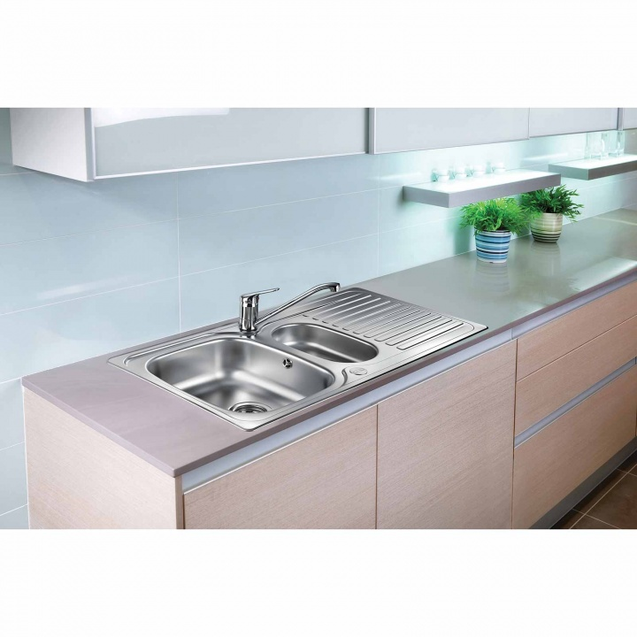 Leisure Linear 1.5 Bowl Reversible Stainless Steel Kitchen Sink