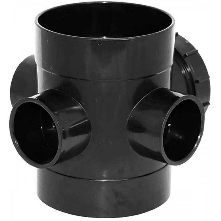 110mm Double Socket Access Pipe Black