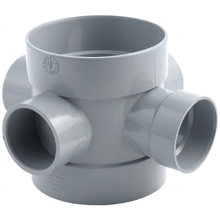 110mm 50mm Short Boss Pipe Grey