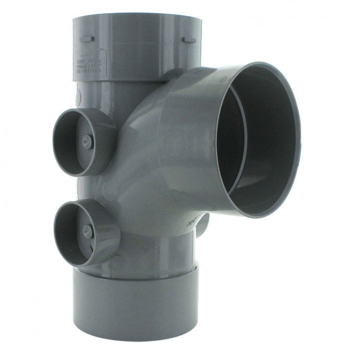 110mm 92.5° Triple Socket 5 Boss Branch Grey
