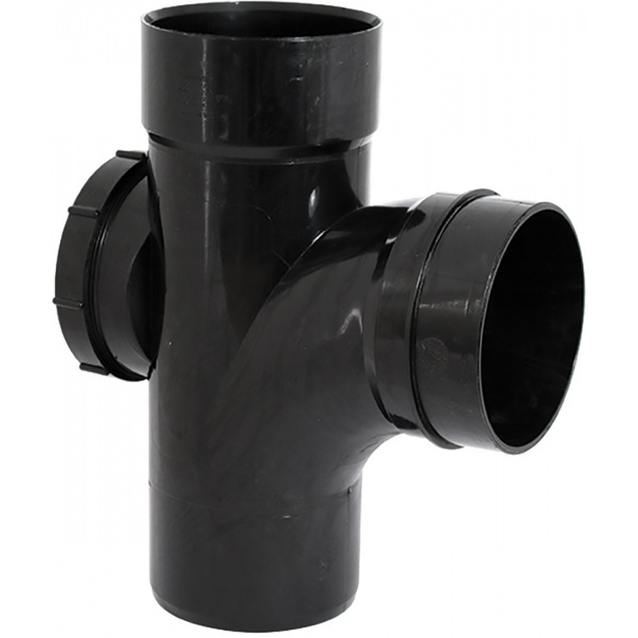 Solvent Weld 110mm 92.5 ° Access Branch Black