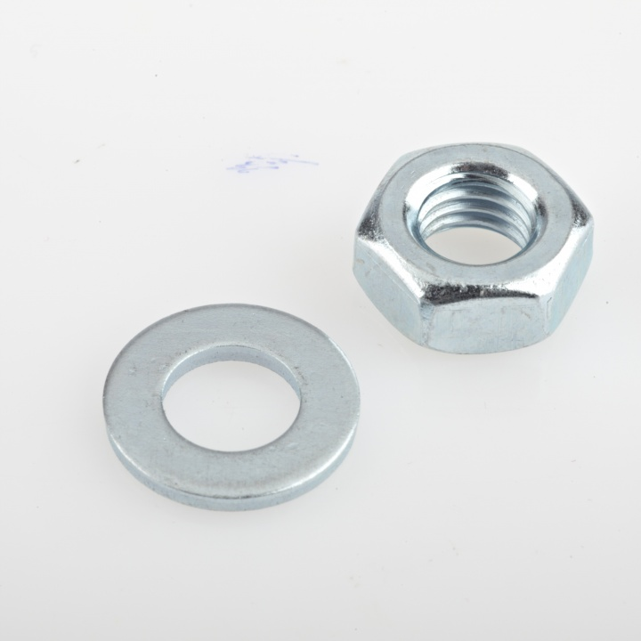 Unifix Hex Nut & Washer BZP M8 Pk 20