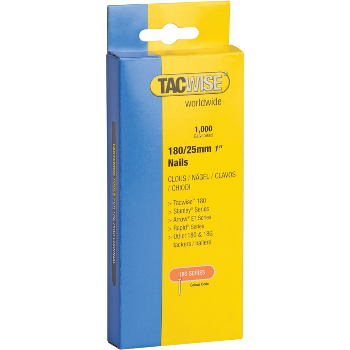 Tacwise 180 Series 25mm Brad Nails Pk 1000