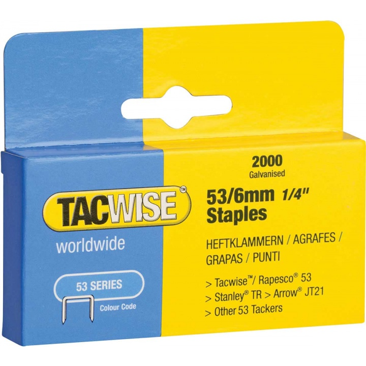 Tacwise 53 Series 6mm Staples (Pk 2000)