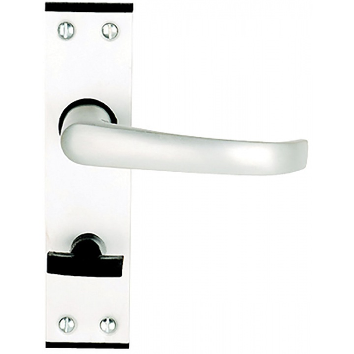 Calder Bathroom Door Handles Satin Aluminium