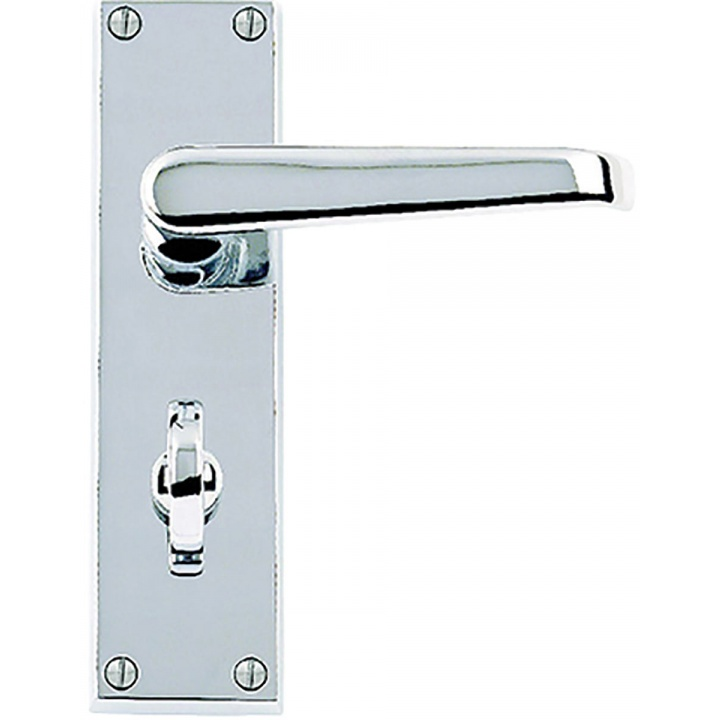 Premier Victorian Bathroom Door Handles Polished Chrome Plated
