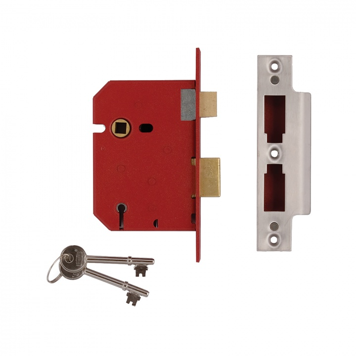 Union Y2201 5 Lever Mortice Sashlock Polished Brass 77mm