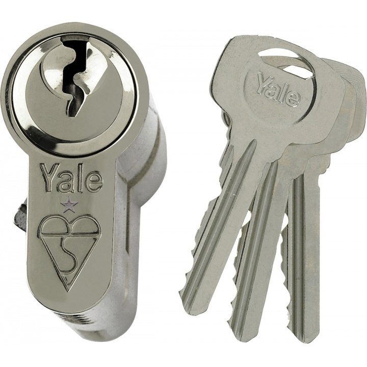 Yale BS Kitemark Euro Double Cylinder Nickel Plated 45/10/45