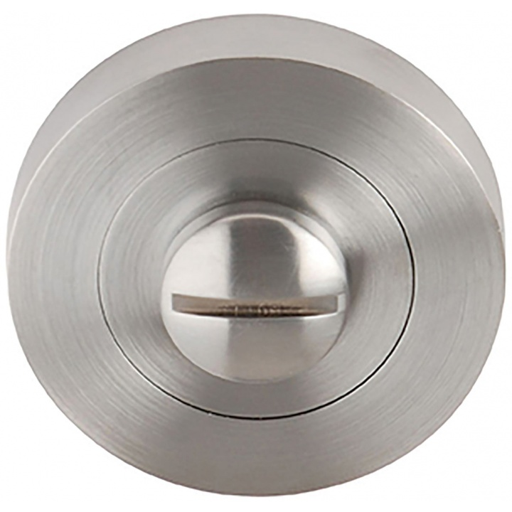 Flex Bathroom Thumb Turn Set Satin Chrome Plated