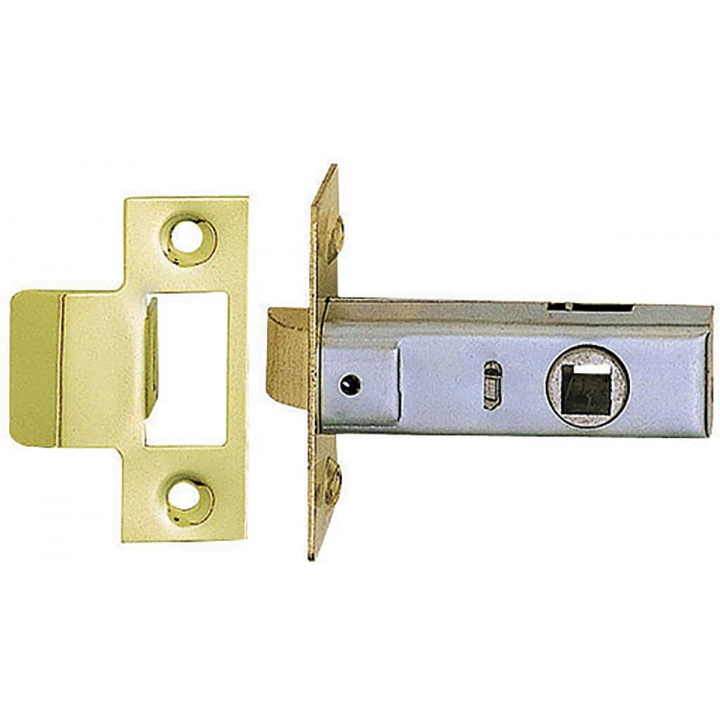 Dale Tubular Mortice Latch Brass Plated 63mm