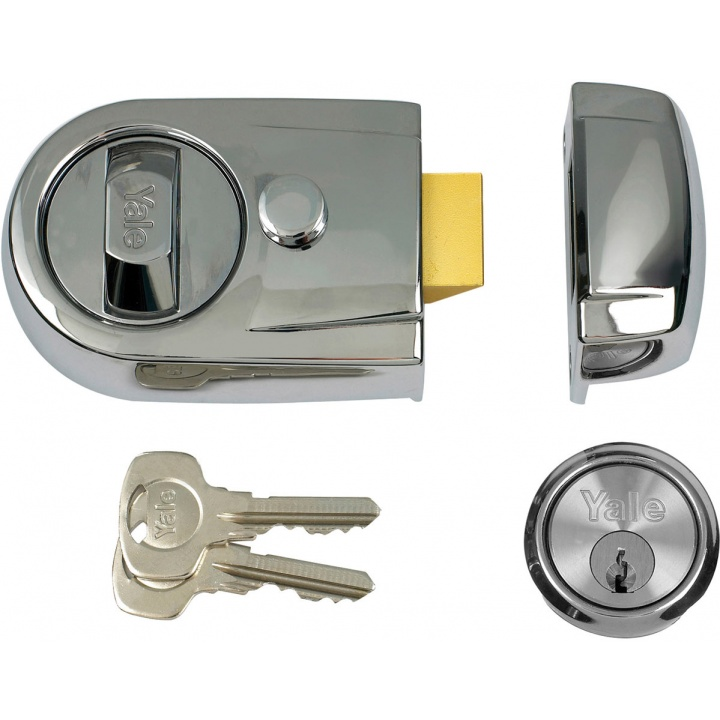 Yale Y3 Contemporary Nightlatch Chrome/Chrome 60mm
