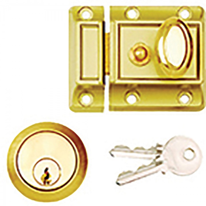 Traditional Night Latch Polished Brass 60mm