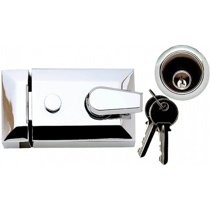Modern Night Latch Polished Chrome Plated 60mm