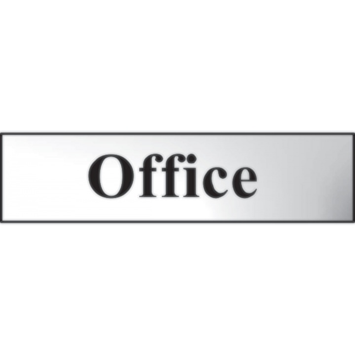 Office Sign Chrome 200 x 50mm