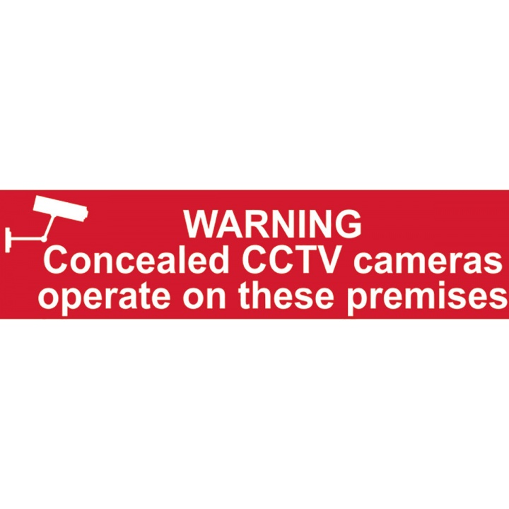 Warning CCTV in Operation Sign 200 x 50mm