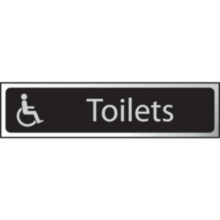 Disabled Toilet Sign 200 x 50mm