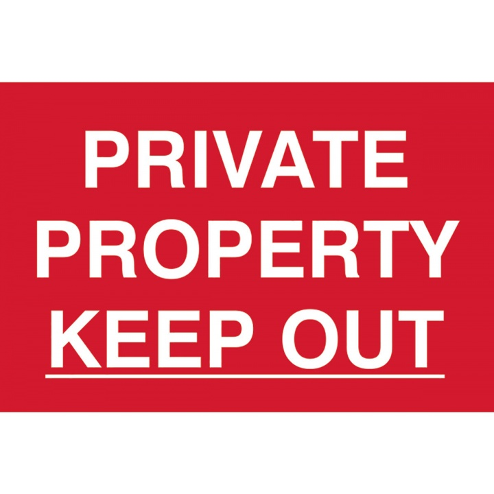 Private Property Keep Out Sign 200 x 300mm
