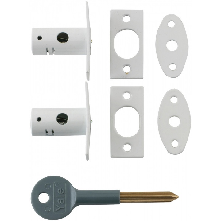 Yale 8001 Window Security Bolt White Pk 2