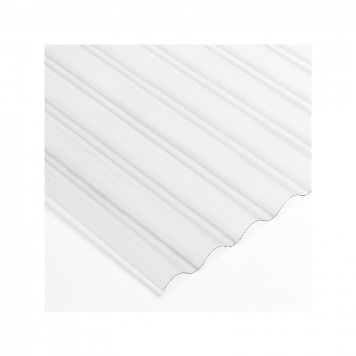 PVC Corrugated Roof Sheet Clear Heavy Weight 2440mm x 755mm