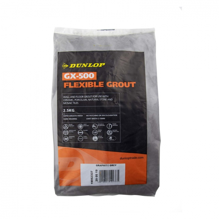 Dunlop Gx 500 Flexible Floor Amp Wall Tile Grout Graphite