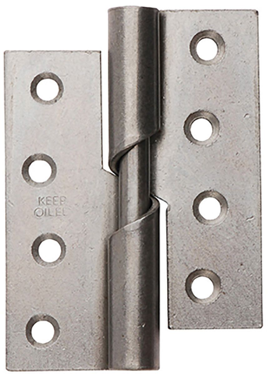 "2 OF  BUTT HINGES STEEL SELF COLOUR 100MM 4/"" WITH SCREWS"