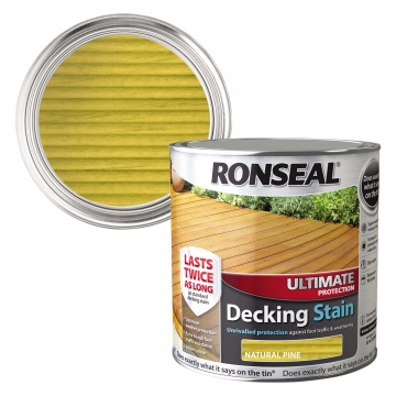 Ronseal Ultimate Decking Stain Natural Pine 2 5ltr Selco