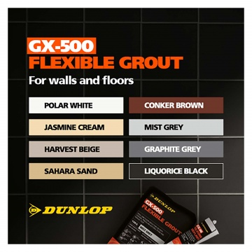 Dunlop Gx 500 Flexible Floor Amp Wall Tile Grout Sahara Sand